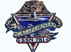 USS California (SSN-781) Patch – Plastic Backing