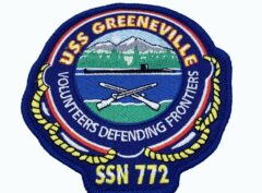 USS Greeneville (SSN-772) Patch – Plastic Backing