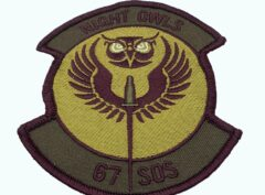 67th SOS Night Owls Squadron Patch – Plastic Backing