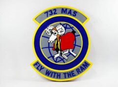 732 MAS 'Fly with the Ram' Plaque