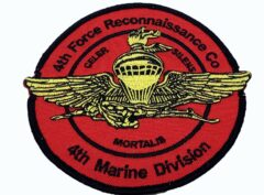 4th Force Recon 4th MARDIV Patch – No Hook and Loop
