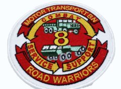 8th Motor Transport Bn Road Warriors Patch – No Hook and Loop