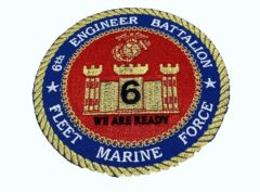 6th Engineer Bn Patch – No Hook and Loop
