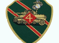 4th Tank Bn Patch – No Hook and Loop