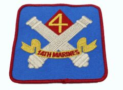 4th Bn 14th Marines Patch – No Hook and Loop