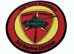 3rd Tank Bn 3rd MARDIV Patch – No Hook and Loop