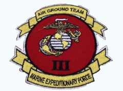 3rd Marine Expeditionary Force Patch – No Hook and Loop
