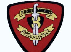 3rd Marines Patch – No Hook and Loop