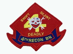 4th Recon Bn Marines Patch – No Hook and Loop