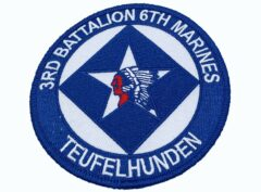 3rd Bn 6th Marines Tufelhunden Patch – No Hook and Loop