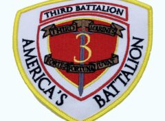 3rd Bn 3rd Marines- America's Battalion Patch – No Hook and Loop