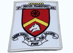 9th Motor Transport Bn Patch – No Hook and Loop